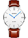 Men\'s Fashion Watch Mechanical Watch Japanese Quartz Leather Band Black Brown