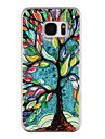 For Samsung Galaxy S8 Plus S8 Phone Case Tree Pattern Flowing Quicksand Liquid Glitter Plastic PC Materia S7 edge S7
