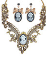 Ожерелье / серьги Бижутерия Мода Euramerican Драгоценный камень Сплав Бижутерия 1 ожерелье 1 пара сережек Для Свадьба Для вечеринок1
