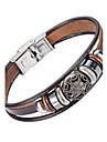 Муж. Кожаные браслеты Бижутерия Природа Мода бижутерия Кожа Сплав Бижутерия Назначение Особые случаи Спорт