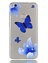 Pour huawei p9 lite p8 lite (2017) couverture de casse-papillon motif relief dijiao tpu materiel haut par le telephone cas p8 lite