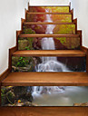 6Pcs DIY Steps Sticker Removable Stair Sticker Home Decor Waterfall