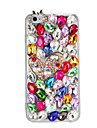 Para rhinestone diy caso capa capa maiuscula brilho 3d cartoon hard pc para apple iphone 7 7 plus 6s 6 plus se 5s 5