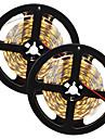 HKV® 1PCS 10M(2x5M) 80W 300LED 5630SMD NO-Waterproof Warm White WhiteLight Normal Brightness Flexible LED Light Bar Strip (DC 12V)
