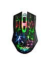Ajazz темный рыцарь usb проводной игровой мыши 2400 dpi 6 дюймов с ярким светодиодным светом светящийся