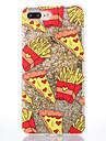 Caso para maca iphone 7 7 mais capa de capa padrao de batatas fritas lado suave diamante granulo flash em po caixa de telefone de areia