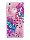 For Huawei P9 Lite P8 Lite Case Cover Diagonal Flower Pattern Flash Powder Quicksand TPU Material Phone Case P8 Lite (2017)