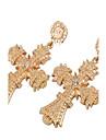 Women\'s Drop Earrings Jewelry Euramerican Oversized EVA Resin Alloy Geometric Jewelry For Wedding Party Business Gift Dress Festival