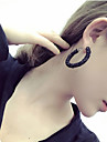 Women\'s Hoop Earrings Fashion Euramerican Costume Jewelry Resin Alloy Circle Jewelry For Daily Casual