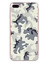 Etui pour apple iphone 7 7 plus couverture casquette motif camouflage hd peint materiel tpu etui souple etui pour iphone 6s 6 plus