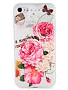 Caso para maca iphone 7 mais 7 capa em relevo padrao capa traseira borboleta flor suave tpu 6s mais 6 mais 6s 6 5 5s