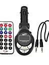 Lute Shaped FM Transmitter Adapter Car Kit MP3 Player Remote Control SD USB Slot --1 pcs