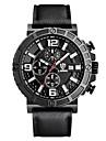 Men\'s Military Watch Wrist watch Quartz Calendar Silicone Band Black