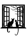 3D Opening Window Cats Wall Stickers Vinyl Removable Tree Branches Leaves Animals Cats Wall Decals Home Decor For Baby Kids Room Living Room