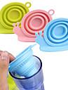Tipo de caracol dobravel, infusor de cha, silicone, solto, folha de cha, filtro, filtro, filtro, ervas, especiaria, aleatorio, cor