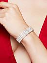 Femme Bracelet Bracelets de tennis Strass Bijoux de Luxe Elegant bijoux de fantaisie Mode Mariee Strass Plaque argent Imitation Diamant