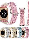 38 / 42мм блестящий геометрический отпечаток красочный браслет браслет браслет кожаный браслет для iwatch apple watch series 1/2