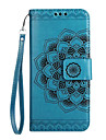For Case Cover Card Holder Wallet Flip Embossed Pattern Full Body Case Mandala Flower Hard PU Leather for Samsung J7 (2017) J5 (2017) J3