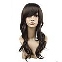 Монолитным Мода Симпатичные Природа Вьющиеся Шарм Браун синтетический парик 2 цвета на выбор