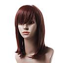 Монолитным термостойкого волокна длинный красный парик волос Прямо