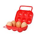 Plastic 6-Eggs Container (Random Color)