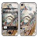 Abstrakte Malerei Design-Front-und Back-Schirm-Schutz-Film für iPhone 4/4S