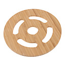 "6.5 ""Hohle Muster Bamboo Coaster"