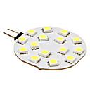3W G4 LED Doppel-Pin Leuchten 15 SMD 5050 210 lm Natürliches Weiß DC 12 V
