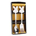 Cartoon Kaninchen Stil Spoon & Fork with Gift Box Set