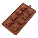 Cartoon Lion Maus Hippo aus Silikon Schokoladen-Form