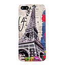 Vintage Eiffel Tower Flower Pattern Hard Case for iPhone 5/5S