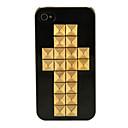 Doppel Nieten Kreuz Schwarz Hard Case für iPhone 4/4S