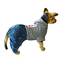 Dog Clothes/Jumpsuit Red Blue Dog Clothes Winter Spring/Fall Stripe Casual/Daily