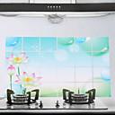 90x60cm Lotus Pattern Oil-Proof Water-Proof Kitchen Wall Sticker