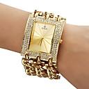 Men's Diamante Dial Analog Quartz Gold Steel Band Bracelet Watch (Assorted Colors)
