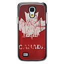 Retro Style Canadian Flag Pattern Aluminum Hard Case for Samsung Galaxy S4 mini I9190