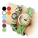 Women's PU Leather Analog Quartz Bracelet Watch (Assorted Colors)