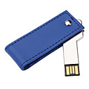 16GB PU Leather Case with 360 Degree Rotation Key USB Flash Drive