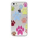 Dog Footprints Pattern Transparent Back Case for iPhone 5/5S