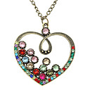 Z&X®  Color Restoring Ancient Ways Drill Large Peach Heart Long Necklace