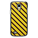 Brown and Yellow Stripes Pattern Aluminum Hard Case for Samsung Galaxy S4 mini I9190