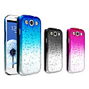 Waterdrop Gradient Color Transparent PC Hard Case for Samsung Galaxy S3 i9300