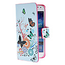 Circles and Flowers Pattern PU Leather Case with Magnetic Snap and Card Slot for Samsung Galaxy S4 mini I9190
