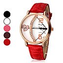 Women's Love's Arrow Pattern Dial PU Leather Band Quartz Analog Wrist Watch (Assorted Colors)
