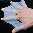 Small Size 100% Silicon Swimming Practising Webbed Gloves(2 Pcs, Color Ramdon)