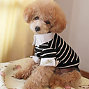 Dog Shirt / T-Shirt / Shirt Blue / Black Dog Clothes Spring/Fall Stripe