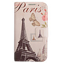 Colored Drawing Butterfly Irony Leather Case for Samsung Galaxy S3 I9300