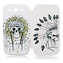 India Skull Leather Case for Samsung Galaxy S3 I9300
