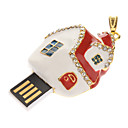 Metal Christmas House Model USB 32GB