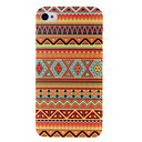 Orange National Style Abstract Geometric Seamless Pattern Plastic Hard Case for iPhone 4/4S